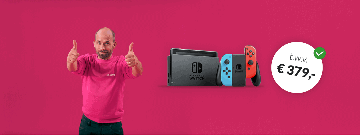 Gratis Nintendo Switch t.w.v € 379,-